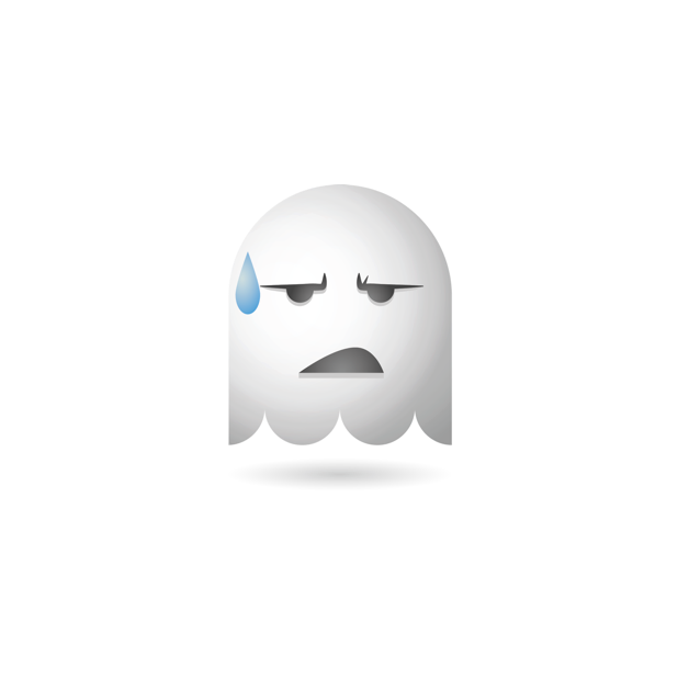 Ghosty Emoji messages sticker-10