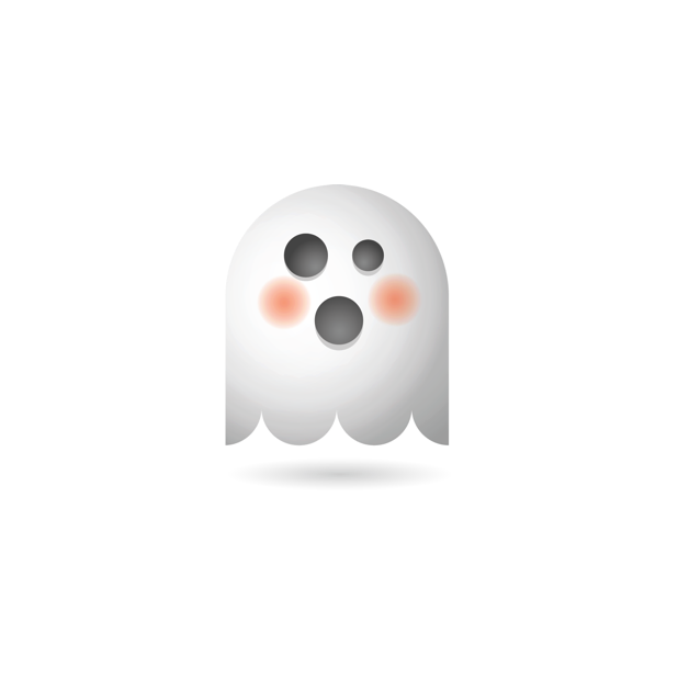 Ghosty Emoji messages sticker-9