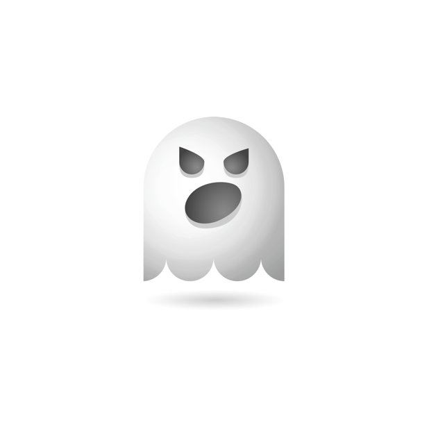 Ghosty Emoji messages sticker-7