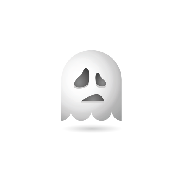 Ghosty Emoji messages sticker-3