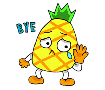Devil Pine - Cutest pineapple stickers messages sticker-10