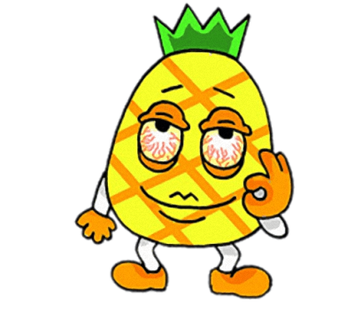 Devil Pine - Cutest pineapple stickers messages sticker-3