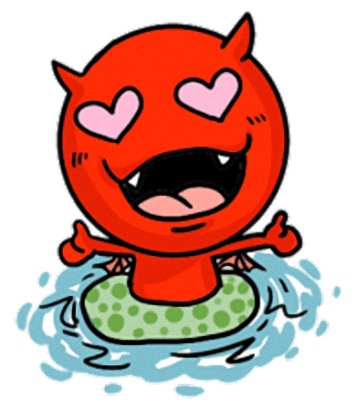 Little Devil - Cute devil stickers messages sticker-3