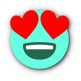 TURQUOISE Emoji • Stickers for iMessage messages sticker-3