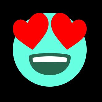 TURQUOISE Emoji • Stickers messages sticker-3