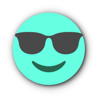 TURQUOISE Emoji • Stickers for iMessage messages sticker-4