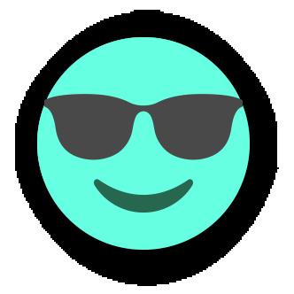 TURQUOISE Emoji • Stickers messages sticker-4