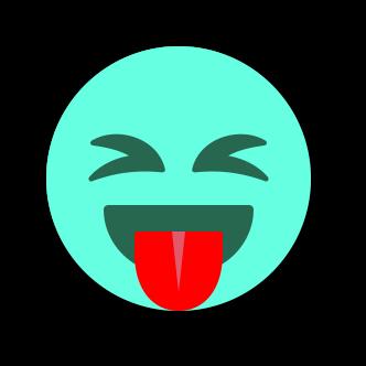 TURQUOISE Emoji • Stickers messages sticker-9