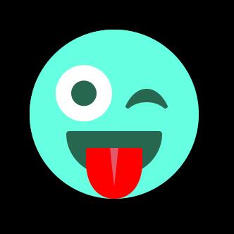 TURQUOISE Emoji • Stickers messages sticker-8