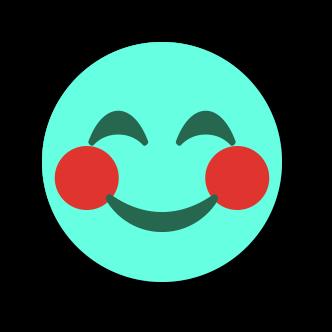 TURQUOISE Emoji • Stickers messages sticker-0