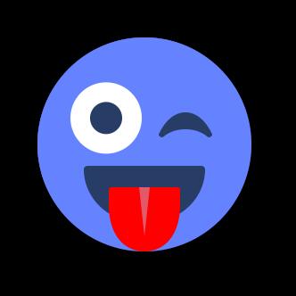 BLUE Emoji • Stickers for iMessage messages sticker-8
