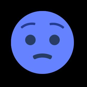 BLUE Emoji • Stickers for iMessage messages sticker-11