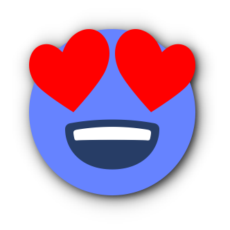 BLUE Emoji • Stickers for iMessage messages sticker-3