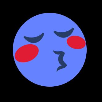 BLUE Emoji • Stickers for iMessage messages sticker-6