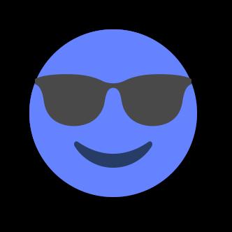 BLUE Emoji • Stickers for iMessage messages sticker-4