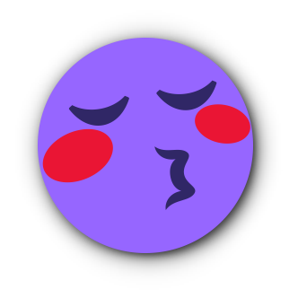 PURPLE Emoji • Stickers messages sticker-6