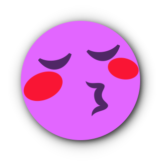 FUCHSIA Emoji • Stickers for iMessage messages sticker-6
