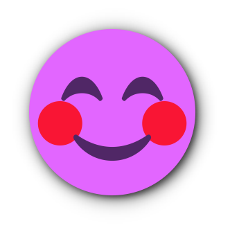 FUCHSIA Emoji • Stickers for iMessage messages sticker-0