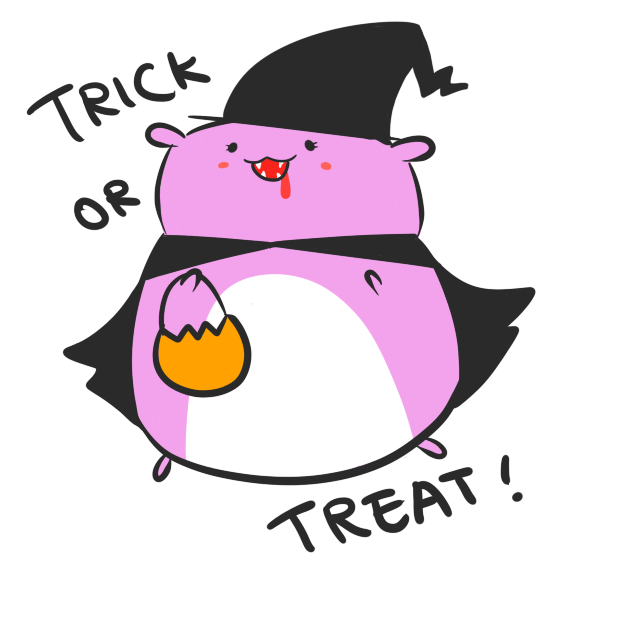 Chubby Hamsters: Halloween Mini-pack messages sticker-6