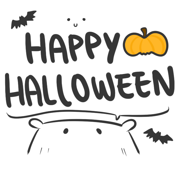 Chubby Hamsters: Halloween Mini-pack messages sticker-1