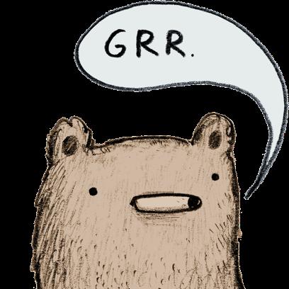 Bear - Redbubble sticker pack messages sticker-2