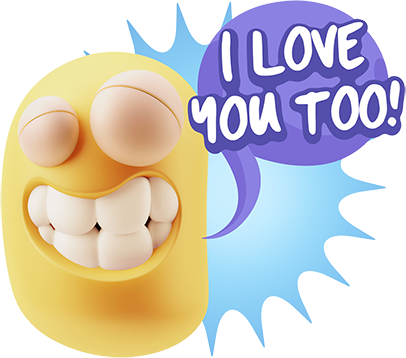 3D Love Colourful Stickers for iMessage messages sticker-1