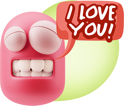 3D Love Colourful Stickers for iMessage messages sticker-3