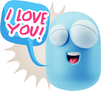3D Love Colourful Stickers for iMessage messages sticker-9