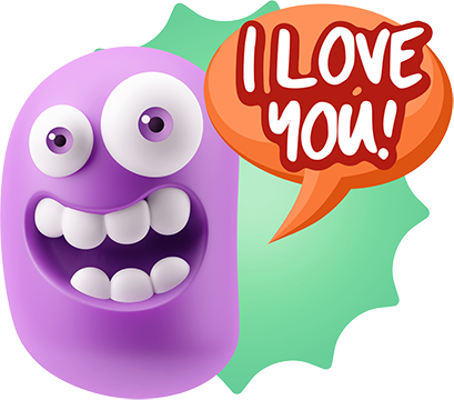 3D Love Colourful Stickers for iMessage messages sticker-11