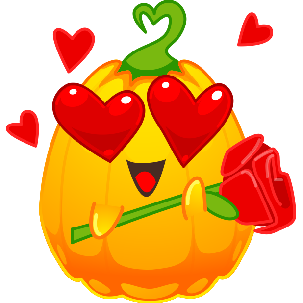 Halloween Pumpkins Emoji messages sticker-1