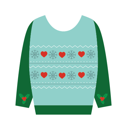 Ugly Christmas Sweaters Sticker Pack messages sticker-8