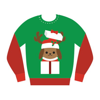 Ugly Christmas Sweaters Sticker Pack messages sticker-9