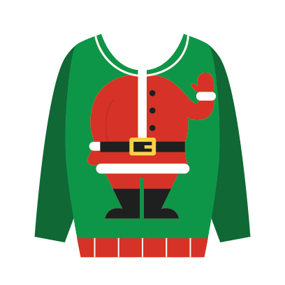 Ugly Christmas Sweaters Sticker Pack messages sticker-0