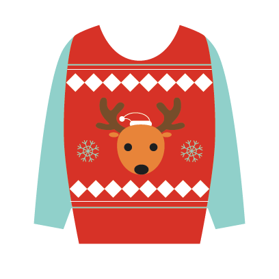 Ugly Christmas Sweaters Sticker Pack messages sticker-3
