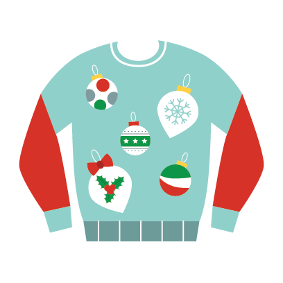 Ugly Christmas Sweaters Sticker Pack messages sticker-5