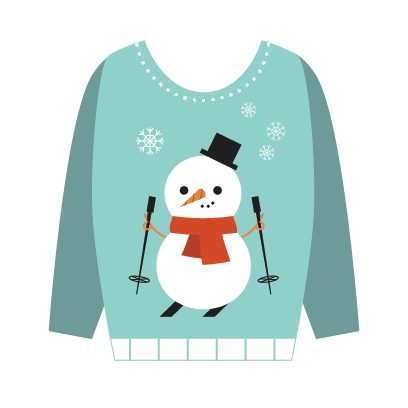 Ugly Christmas Sweaters Sticker Pack messages sticker-2
