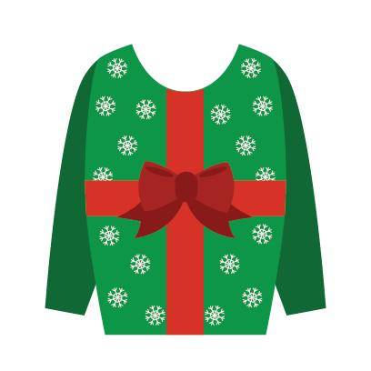 Ugly Christmas Sweaters Sticker Pack messages sticker-6