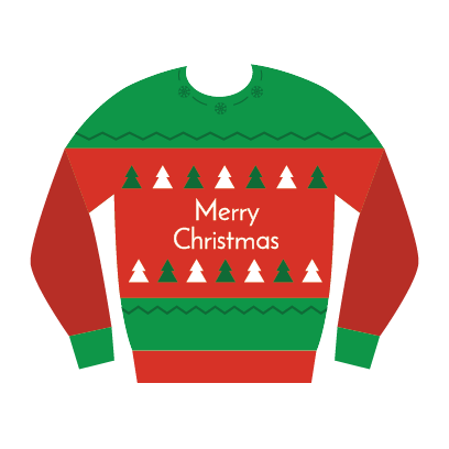 Ugly Christmas Sweaters Sticker Pack messages sticker-10