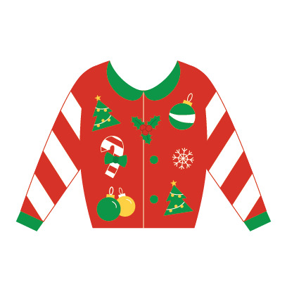 Ugly Christmas Sweaters messages sticker-1