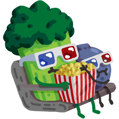 Broccoli & Blueberry messages sticker-4