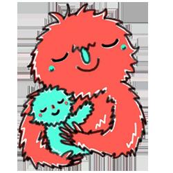 Monster Cartoon Sticker messages sticker-5