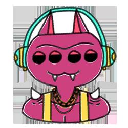 Monster Cartoon Sticker messages sticker-2