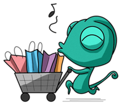 Naughty Chameleon Stickers messages sticker-5
