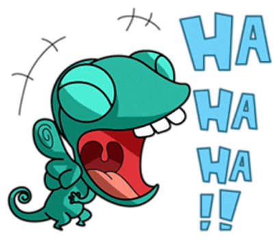 Naughty Chameleon Stickers messages sticker-3
