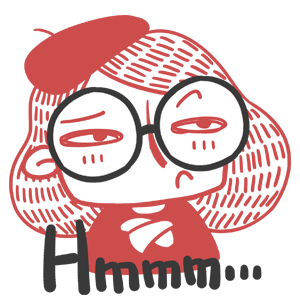 Miss Glasses − NHH Stickers messages sticker-7