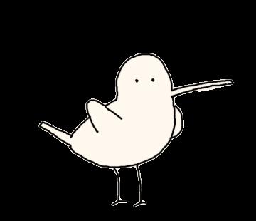 Beak is long bird messages sticker-0
