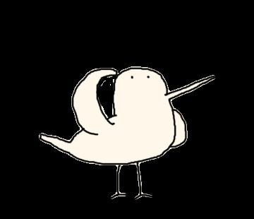 Beak is long bird messages sticker-6