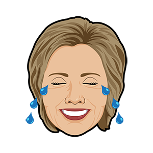 Hillary vs Trump - Stickers for iMessage messages sticker-6