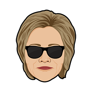 Hillary vs Trump - Stickers for iMessage messages sticker-8