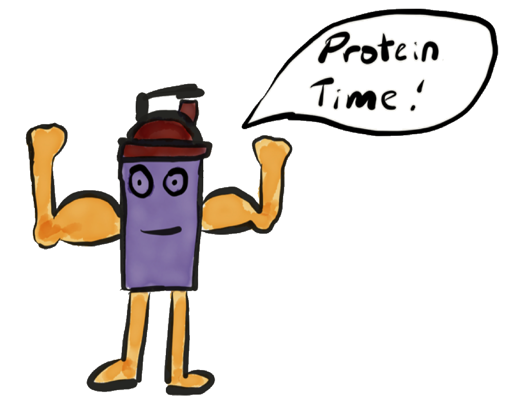 Protein Shaker Says messages sticker-1